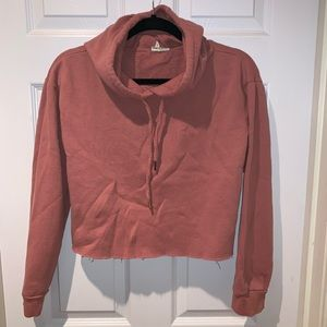 mauve blush solid cropped hoodie xs/small